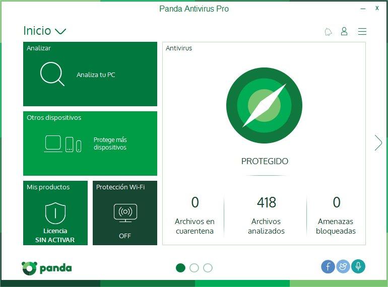 Panda Comparativa Antivirus 2018