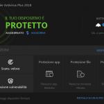Bitdefender Antivirus Plus 2018 protezione