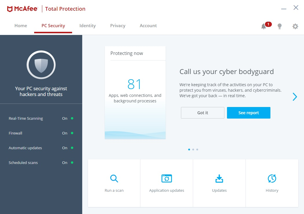 McAfee Total Protection PC Security