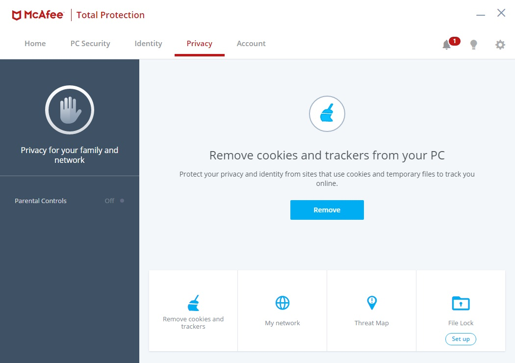 McAfee Total Protection Privacy