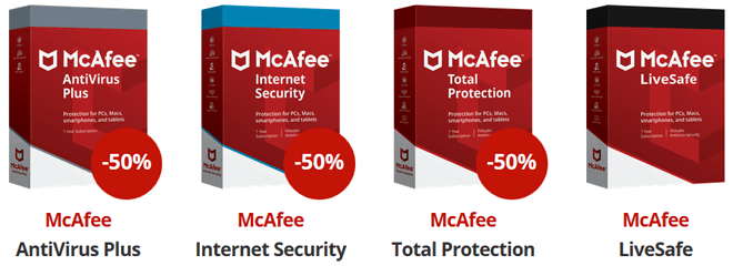 McAfee total protection 50% rabat
